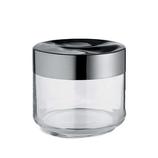 Julieta Glass and Stainless Steel jar 9.3cm