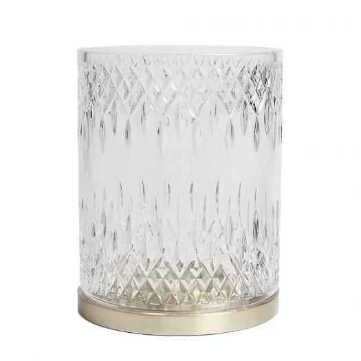 Waterford Lismore Reflection Hurricane Crystal Lamp 25cm