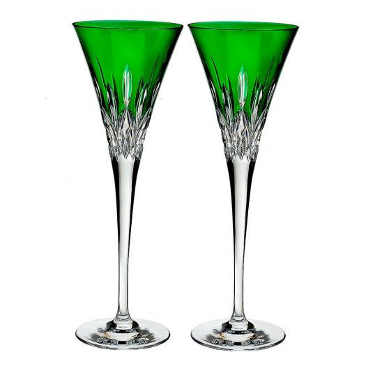 Waterford Lismore Pops Crystal Toasting Flutes