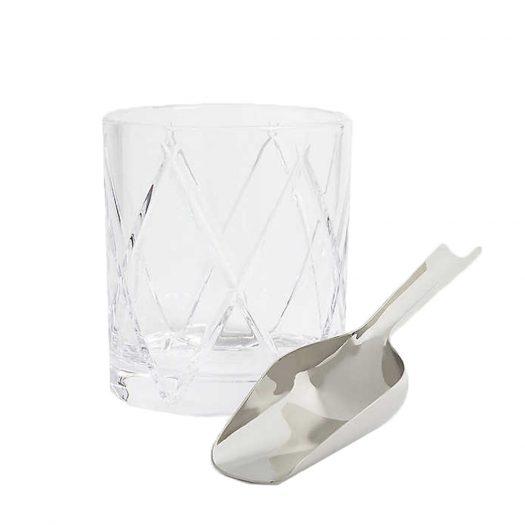 Olann Crystal Ice Bucket and Scoop