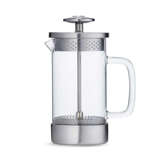 Core Three Cup Borosilicate Glass and Stainless-Steel Coffee Press 350ml