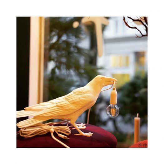 Bird Resin Indoor Lamp 33cm