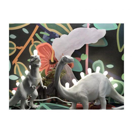 Jurassic Bronto Resin Table Lamp
