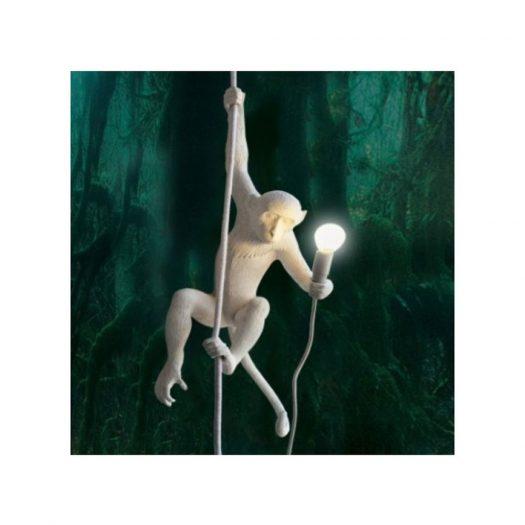 Hanging Monkey Resin Lamp 37cm