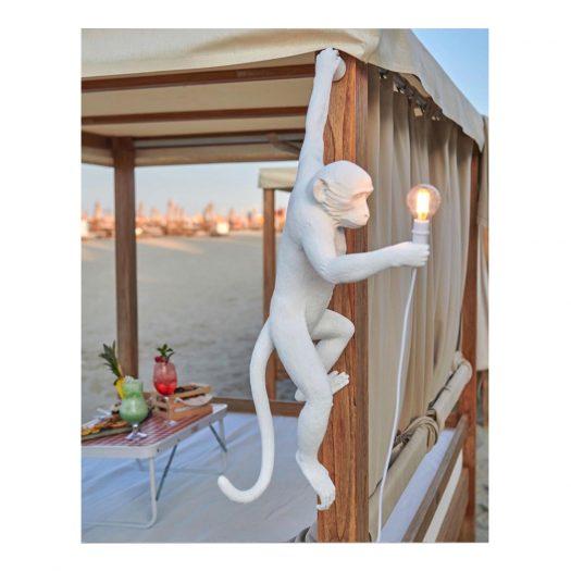 Monkey Resin Outdoor Lamp 37cm X 20.5cm