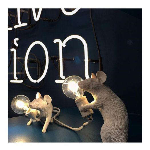 Running Mouse Resin Lamp 21cm