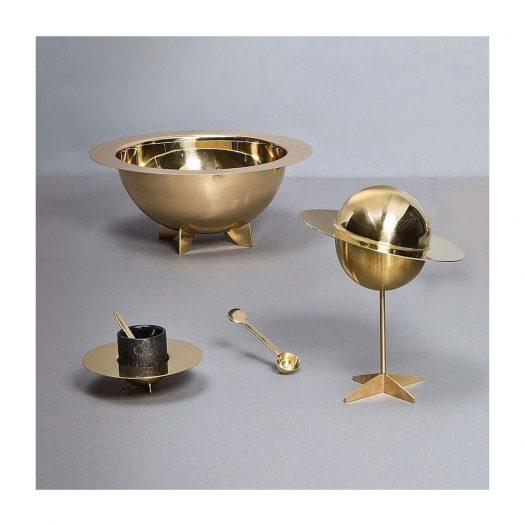 X Diesel Cosmic Dinner Lunar Brass Salad Bowl 14cm