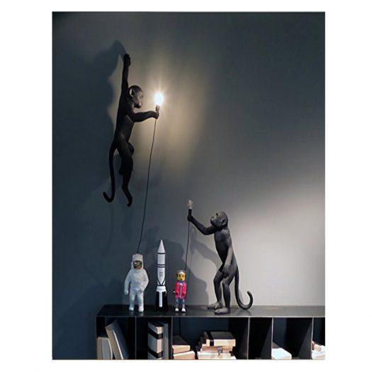Standing Monkey Resin Lamp 54cm