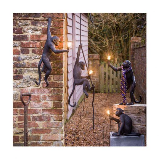 The Monkey Lamp Swing Resin Ceiling Lamp