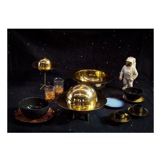 X Diesel Cosmic Dinner Lunar Brass Sugar Jar 26cm