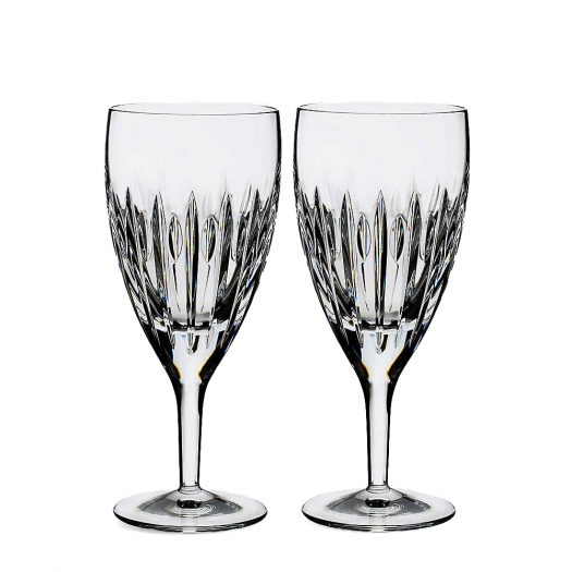 Set of Two Arden Mara Crystal Beverage Glasses