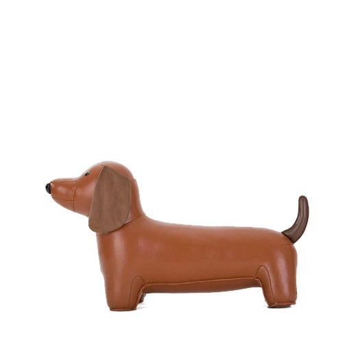 Teckel Dog Faux-leather Doorstop 21.5cm