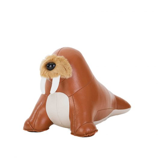 Walrus Walu Faux-leather Doorstop 18cm