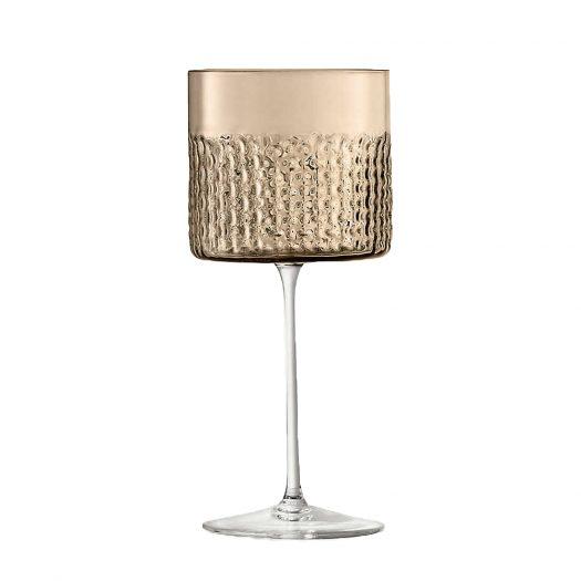 Wicker Glass Wine Glasses Set of Two