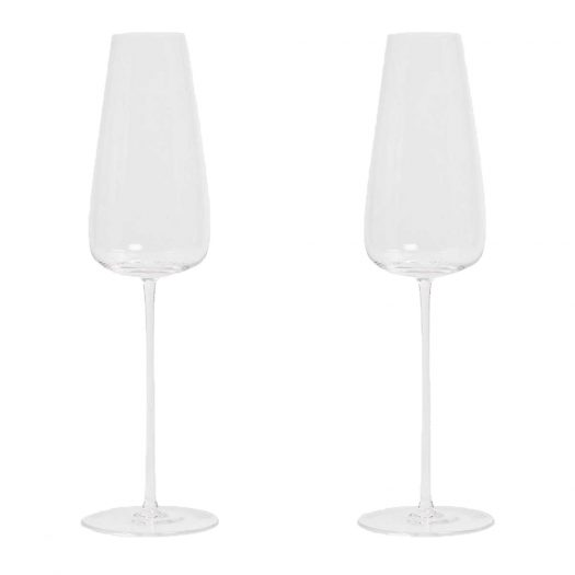 Wine Culture Two Champagne Glass Flutes