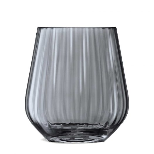 Zinc Pleated Glass Vase 16cm