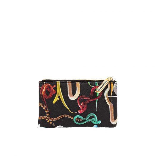 Seletti Wears Toiletpaper Snake-print Faux-leather Case 15cm X 9cm