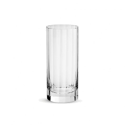 Fluted Crystal Double Highball Glass 15.5cm