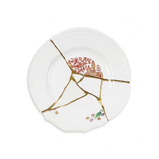 Kintsugi N1 Porcelain And 24ct Gold Dinner Plate 27cm