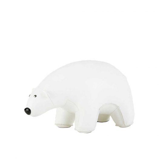 Polar Bear Leather Bookend 25cm