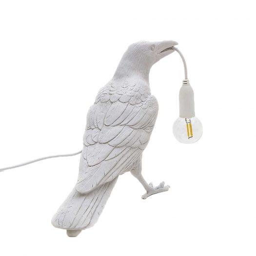 Bird Resin Indoor Lamp 32cm