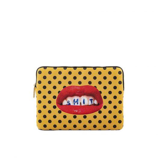 """Wears Toilerpaper Mouth-print 13"""" Canvas Laptop Case 34cm X 25cm"""