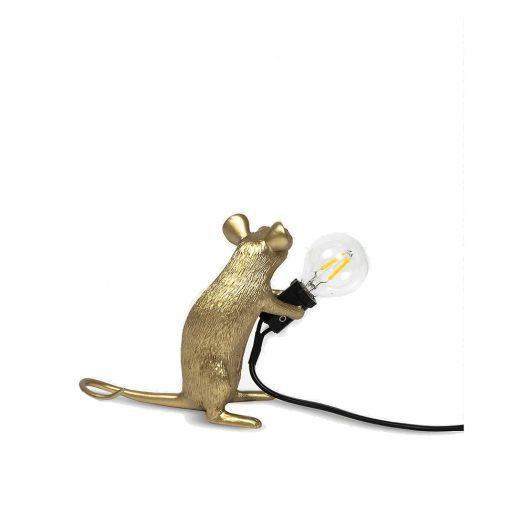 Mac Mouse Metallic Resin Lamp 15cm