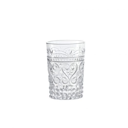Provenzale Rock Glass Tumbler Clear Set of 6