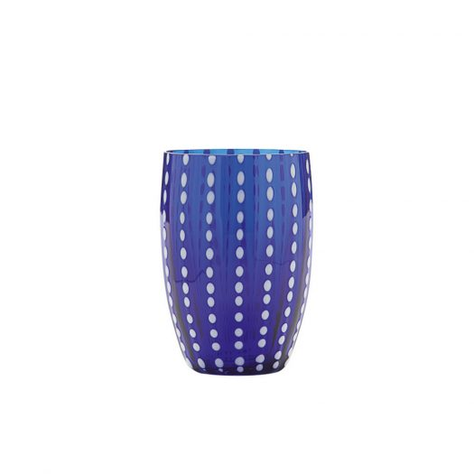 Perle Glass Tumbler Blue Set of 6