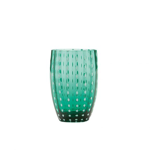 Perle Glass Tumbler Green Set of 6