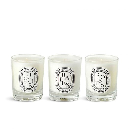 Baies, Figuier and Roses Mini Candles 3 x 70g