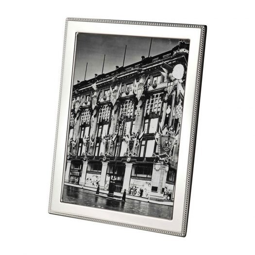 Bead Sterling Silver Photo Frame 10