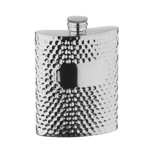 Hammered Pewter Hip Flask 0.17L