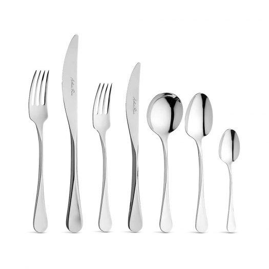 Cascade 124-Piece Stainless Steel Cutlery Set