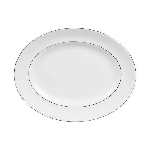 Blanc Sur Blanc Oval Dish 36cm