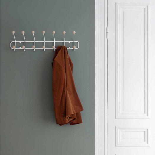 Bill Horizontal Birch and Metal Wall Hanger