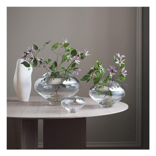 Duo Glass and Stainless Steel Vase 33 cm