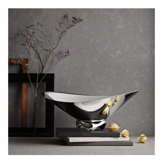 Henning Koppel Stainless Steel Wave Bowl 16.9cm x 42cm