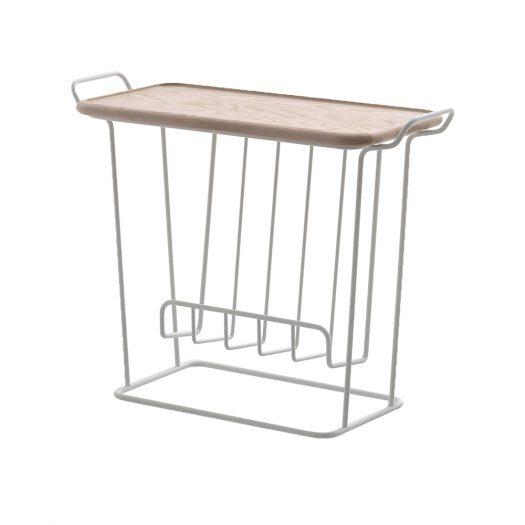 Minne Mae Wire and Birch Side Table 62cm x 49cm