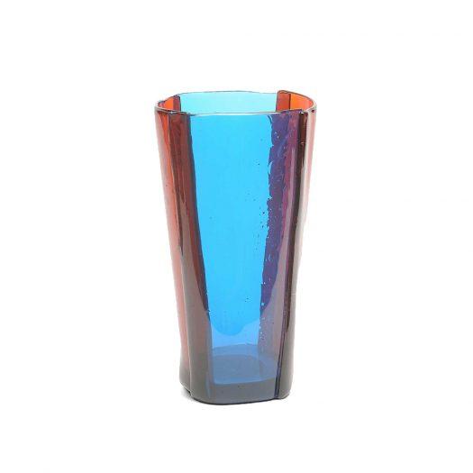 Multi-coloured Stripe Resin Vase