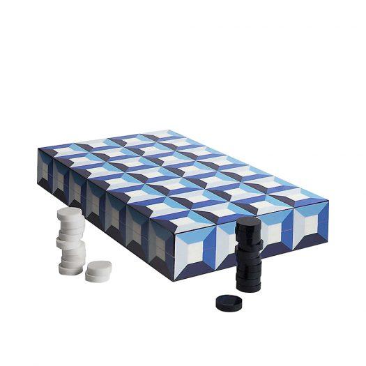 Op Art Wood Backgammon Set