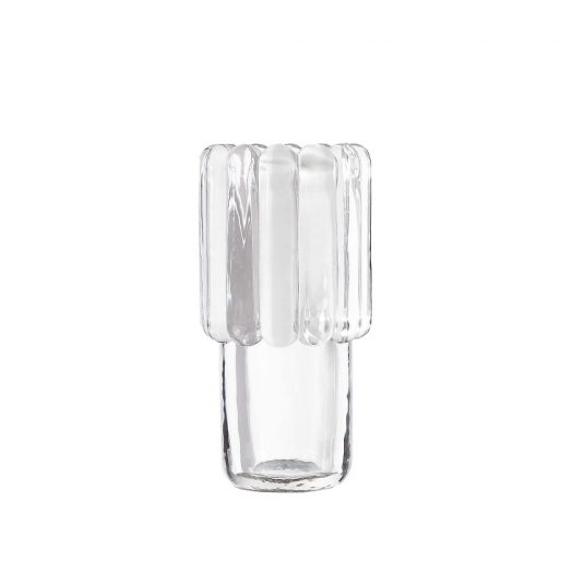 Press Glass Vase 21.7cm