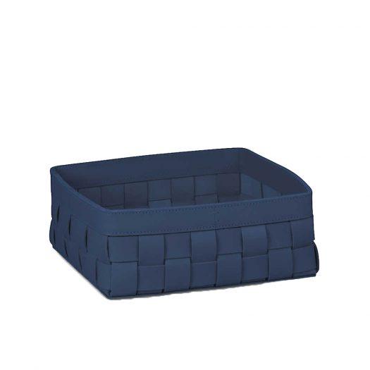 Ravenna Square Low Large Leather Basket