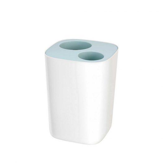 Split Bathroom Waste Separation Bin 8L