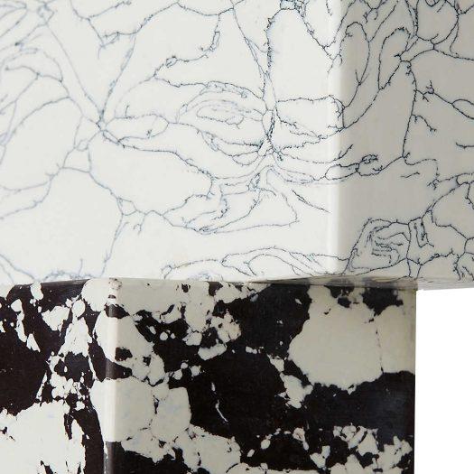 Swirl Marble Candelabra 17cm