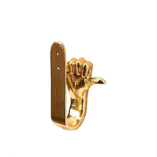 Thumbs-Up Plated Aluminium Coat Hook 16cm