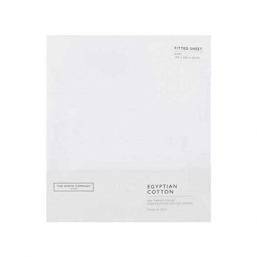 Egyptian Cotton Super King Fitted Sheet 200x180cm