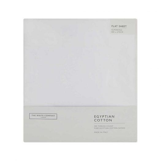 Sateen Egyptian Cotton Super-king Flat Sheet