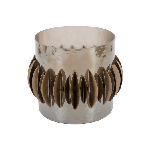 Shell/Glass Candle Holder