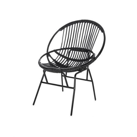 Cane Chair - Black